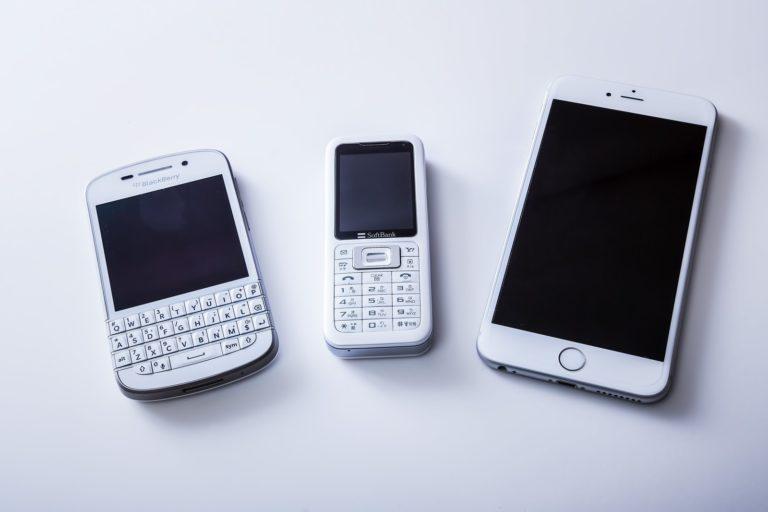 ガラケーとスマートフォン