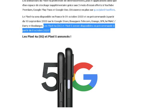 Pixel 4a 5G、Pixel 5