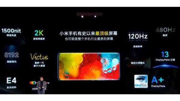 Xiaomi Mi 11ディスプレイ