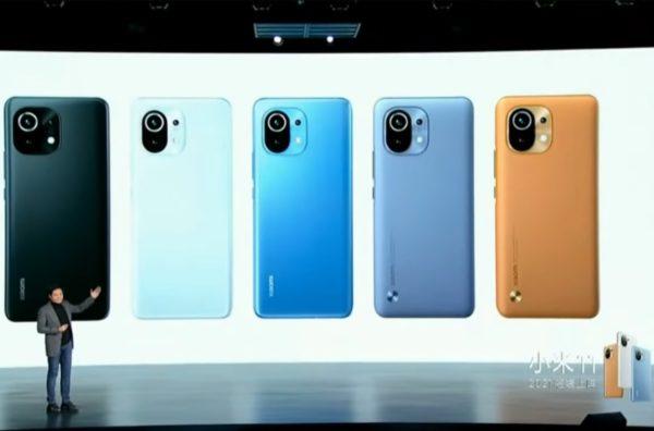 Xiaomi Mi 11 カラバリ
