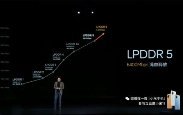 Xiaomi Mi 11 LPDDR5
