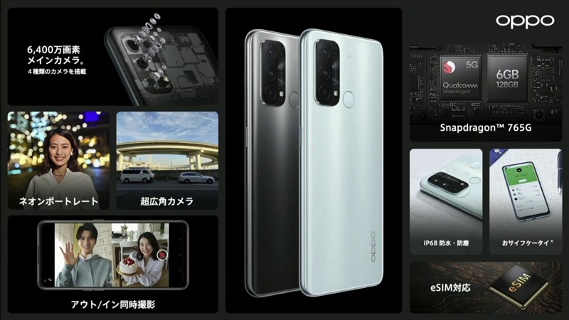 OPPO Reno5 A全部入り
